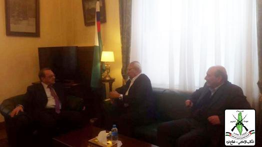 وفد من الجبهة الشعبية القيادة العامة و الجبهة الشعبية يلتقي نائب وزير الخارجية الروسية في دمشق